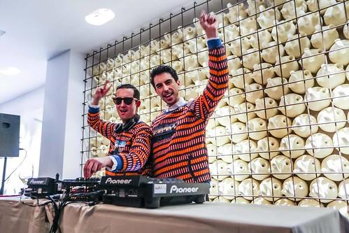 Crawford y Pepino Marino durante el DJ Set. Foto Quique Villanueva