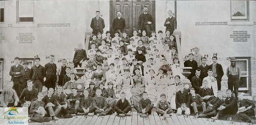 Aylmer High School faculty and students, 1886