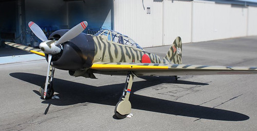 Place in history:The Mitsubishi A6M Reisen (nicknamed Zero and Zeke) Paul Allen Collation Paine Field WA