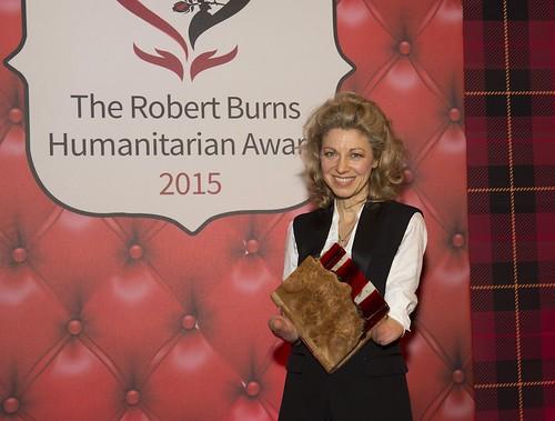 Edinburgh amputee who helps others walk wins Robert Burns Humanitarian Award 2015