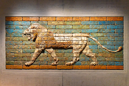 striding lion, sacred animal of the goddess Ishtar