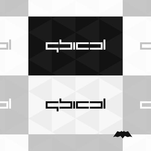 Qbical, experimental logo design / logotype work based on a custom build type.