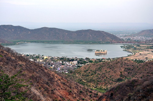 India - Rajasthan - Jaipur - Overview With Jal Mahal (Water Palace) - 3