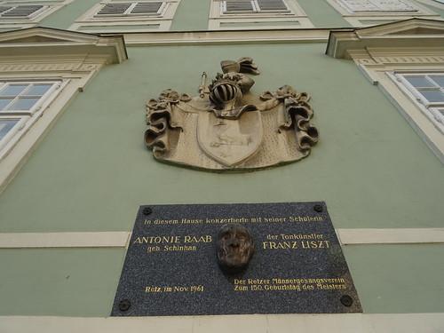 Retz, Lower Austria (the art of public places at the historic center of Retz), Hauptplatz (Antonie Raab/Franz Liszt)
