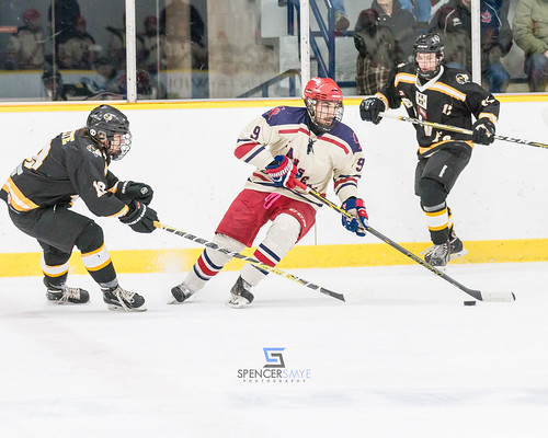 Provincial Junior Hockey League game between the Glanbrook Rangers and the Tavistock Braves.