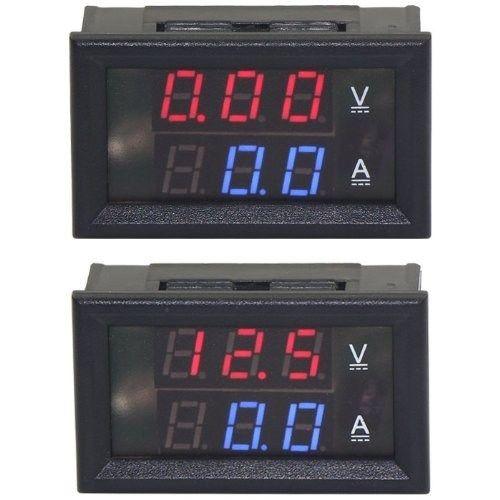 DROK® Pocket Digital DC 0-100V/A VA Ammeter Voltmeter Ampere Volt Testing Gau...