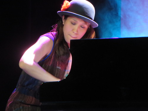 Manami Morita jazz and classical pianist performing at The National Cherry Blossom Festival, Opening Ceremony at the Warner Theatre in Washington, D.C. USA