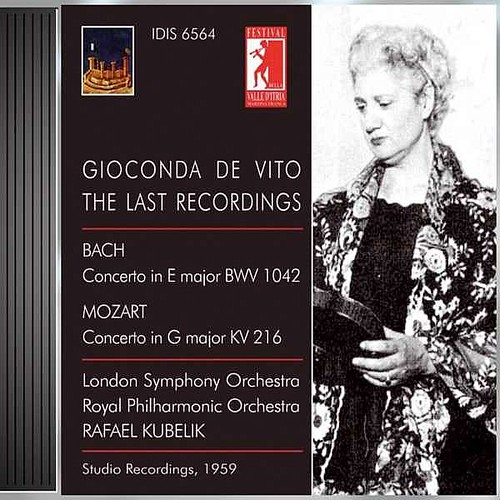 Violin Concert Vito Gioconda De - Bach J.s. Mozart W.a. -gioconda De Vito Edition Vol. 6- -1959- Gioconda De Vito Idis