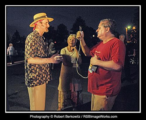 Mike Grayeb (The Harry Chapin Foundation) interviewing Stuart Markus (Concert Organizer) & Sandy Chapin (Harry Chapin's widow)