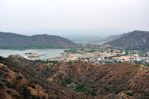 India - Rajasthan - Jaipur - Overview With Jal Mahal (Water Palace) - 2