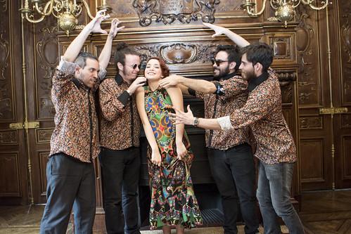 Laura Guevara y su banda