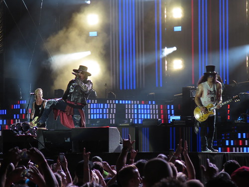 Guns N' Roses - Axl Rose (William Bruce Rose, Jr.), Slash (Saul Hudson), Duff McKagan (Michael Andrew McKagan), Dizzy Reed (Darren Arthur Reed), Richard Fortus, Frank Ferrer & Melissa Reese