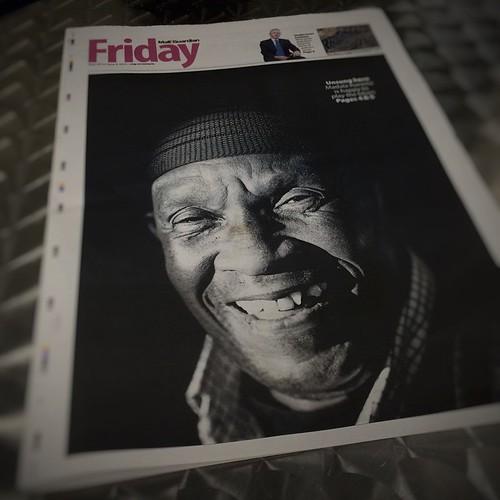 Cover I shot for the Mail and Guardian's Friday section of Madala Kunene. Durban, 2015. #madalakunene #monochrome #musician