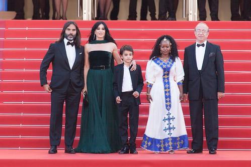 2018-05-17- Cannes-L'équipe du film Capharnaüm-Khaled Mouzanar,son épouse Nadine Labaki, Zain Alrafeea, Boluwatife Treasure bankole et Yordanos Shifera-4985