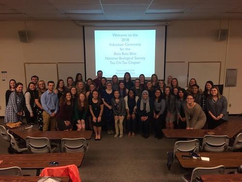 Beta Beta Beta (BBB) Biology Honor Society Inducts New Members