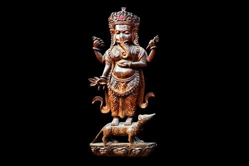 Nepal - Khokana - Newari House - Ganesha - 2d