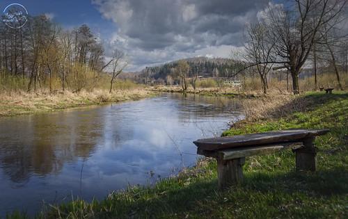 Warta river in Mstów (Częstochowa, Poland)