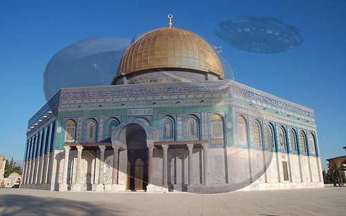 The Dome of the Rock..  INIMICAL ENERGIES AT THE TEMPLE MOUNT..two giant Astral beings are locked in a deadly battle atop Mount.