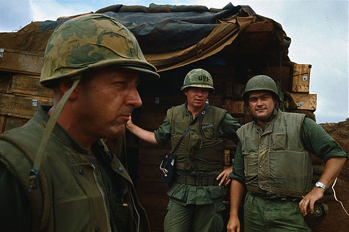 October 15, 1965 - U.P.I. correspondent Dick Oliver wearing fatigues at Con Thien Base.