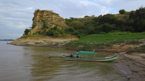 Río Ayeyarwady. Parada para visitar Templo Kyauk Gu Umin.Nyaung U. Bagan