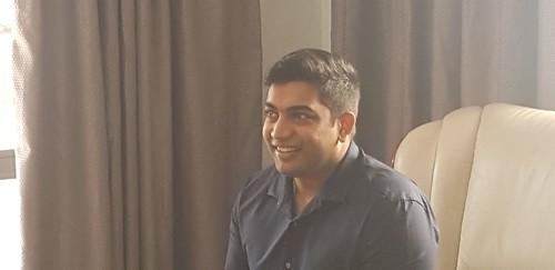 Sandesh and Pat Naidoo