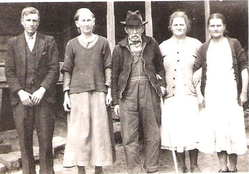 Alexander Petty with his 2nd wife Nancy and children from his first marriage to Molsa Evoline. (Circa 1929-1938)