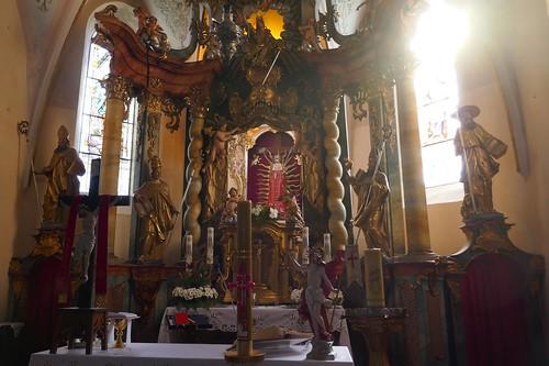 Ołtarz główny kościoła św. Katarzyny w Starym Wielisławiu