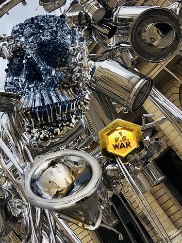 Let's Start A Third World War To Save The Global Economy...no matter how great a spectacle we create..Subodh Gupta...Kabir....What is seen is not the Truth  What is cannot be said  Trust comes not without seeing...the intricately woven blanket