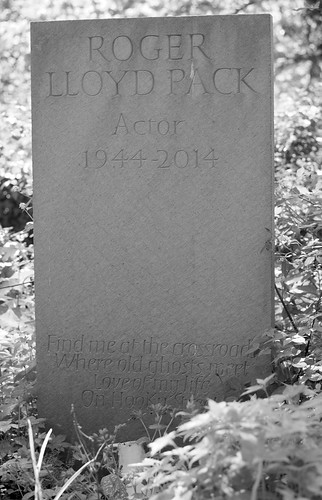 The grave of Roger Lloyd Pack