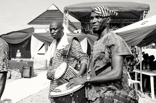 Traditional drummers at a wedding in Lagos Nigeria. #Yoruba #Tradition #Nigeria #NaijaGems #Drummers #Alaga's