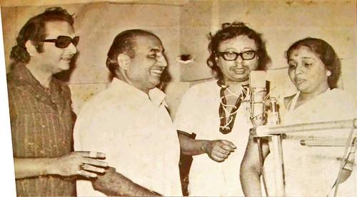 Baswajeet, Mohd. Rafi, R.D Burman & Asha Bhosle
